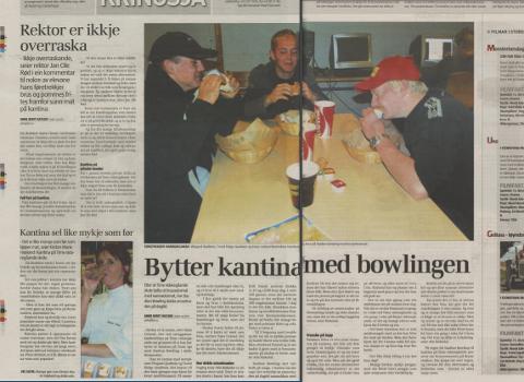ARKIV: Brus, pommes frites og hamburgere var langt mer populært enn kantina tilbake i 2004