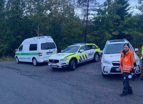 LETEAKSJON: Ressurser fra Norsk Folkehjelp Kragerø, Kragerø politistasjon og Kragerø Røde Kors bidro i søket etter jenta.