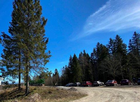 Sist uke: Bildet var fra parkeringen ved Rotuveien på Kraft.