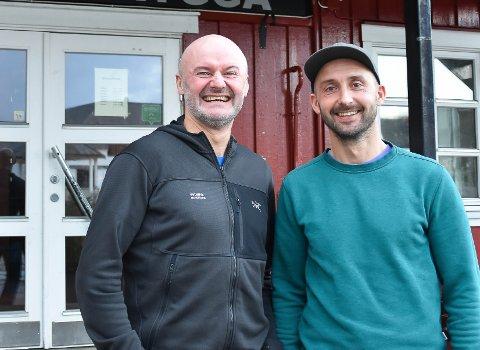 Planer: Brødrene Ola og Eirik Skjeseth har planer på Delp. Her fra Prestengbrygga i Kabevåg ved en tidligere anledning. De to er begge etablert innenfor reiseliv og uteliv i Vågan fra før.