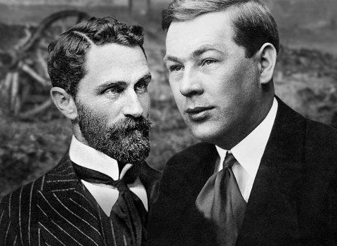 Eivind Adler Christensen ble født i Moss 3. mai 1890. Han ble den britiske adelsmannen Sir Roger Casements store kjærlighet og etter hvert dobbeltagent i den irske revolusjonens tjeneste. Fotomontasje: Pål Abrahamsen.