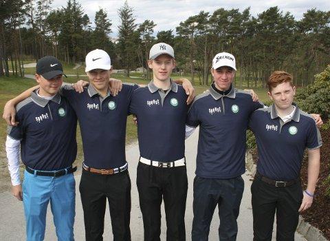 I storform: Juniorene i Moss & Rygge Golfklubb imponerte stort på vestlandet nylig. Foto: Privat
