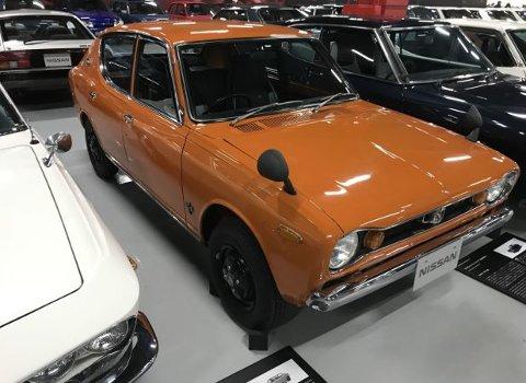 Husker du denne? Cherry er fra den gangen Nissan het Datsun i det norske markedet. En ekte folkebil på sin tid, her i svært tidsriktig farge.