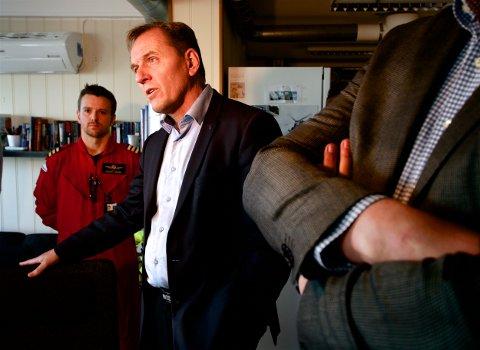 Leder i flygerforbundet  Yngve Carlsen besøkte Tromsø denne uka. Foto: Ola Solvang