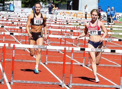 I FARTA: Hedda Nilsen konkurrerte i sitt første stevne denne sesongen med tredjeplass.