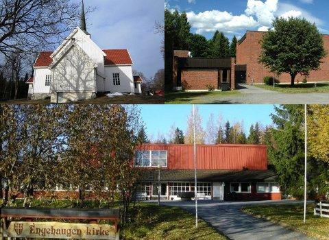 OPPUSSING: Flere kirker i Gjøvik, Hunn, Engehaugen og Biri, trenger oppgraderinger som kirkerådet håpet kommunen kan avsette penger til