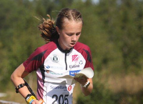 SUKSESS: Marie Kravdal fra Gjø-Vard var av de beste på begge distansene under det uoffisielle NM-et for yngre i orientering.