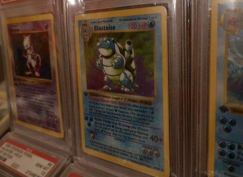 ENORM VERDIØKNING: En Follo-mann kjøpte Pokemon-kortet 1999 Pokemon Game 1st Edition Holo Blastoise for 4000 kroner for halvannet år siden. Etter det har verdien på det sjeldne kortet steget kraftig. Nå ligger det ute på finn.no til 100.000 kroner.