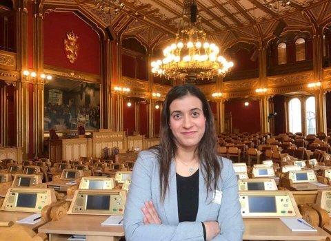 FAST PLASS: Sheida Sangtarash (36) fra Bærum har vikariert for Nicholas Wilkinson mens han var sykemeldt. Nå ønsker hun fast plass på Stortinget.