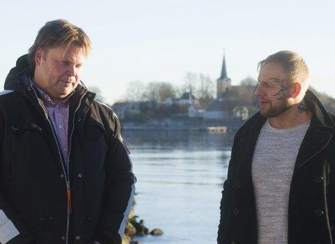 Boksuksess: Forfatter Jørn Lier Horst (t.v.) og den nå kidnappingstiltalte Trond Einar Frednes, skrev boksuksessen «Badboy» sammen.