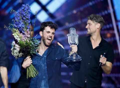 Duncan Laurence og Nederland vant Eurovision Song Contest i Tel Aviv lørdag kveld.