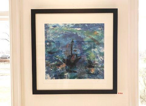"""UNIKE: De seks maleriene til Mikael Persbrandt var de eneste han har godkjent å selge i Norge. Her er maleriet """"Stormen"""" som søndag formiddag hadde blitt solgt i tre eksemplarer."""