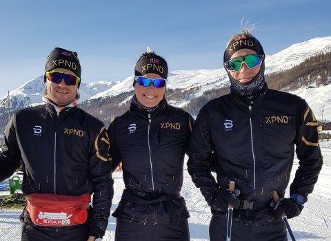 SATSER LANGT: Ingeborg Dahl fra Ådal, Kristoffer Nielsen fra Skien og Erlend Thomas Hennig fra Hjelmeland. De to førstnevnte er på plass i Østerrike, klare for langløp.