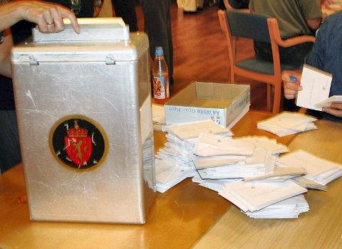 Mange retter: 12 prosent av velgerne i Østfold rettet på stemmeseddelen til årets stortingsvalg.