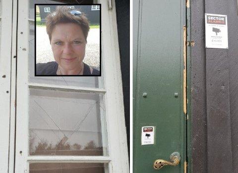LEI: Gry Jeanette Hagen er lei av rydde opp etter innbruddstyver på Restaurant fortet. Foto: privat
