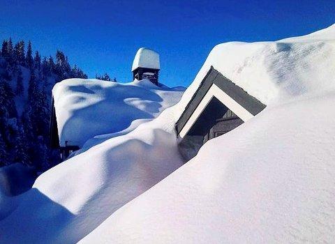 Snø nok: Tala yr.no har for nedbør på Heggenes hittil i mars er altfor høge, men snømengdene både der og andre stader i Valdres nærmar seg fjoråret.