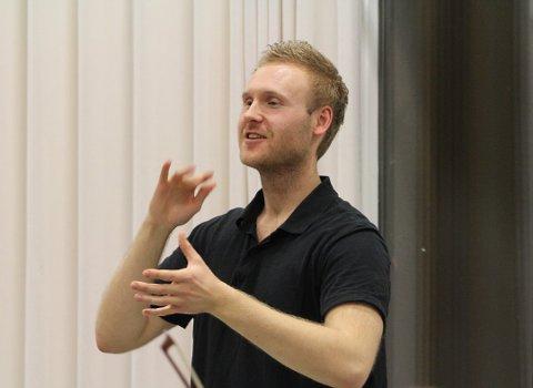 Rune Furøy Johansen gjorde det svært godt som dirigent under NM.