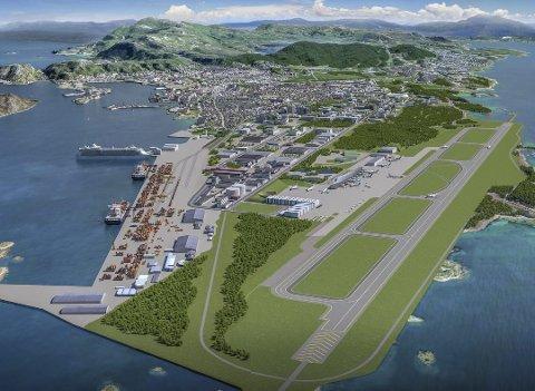 Ny by: Flyttingen av flyplass åpner for å bygge nytt fra grunnen av.