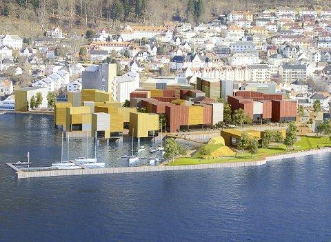 Bildet viser skisser for fortetting der Neumann Bygg og Kristiansholm ligger. Høringsfristen er satt til 30. oktober. ILLUSTRASJON: BERGEN KOMMUNE