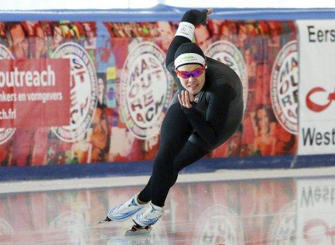 GOD FORM: Ellen Bjertnes har vist god form på isen i Leeuwarden i Nederland de siste dagene. Nå gleder hun seg til sesongstart.
