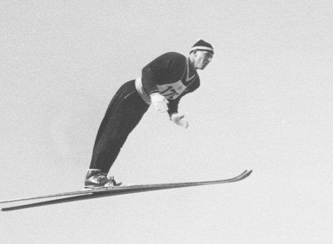 VM 1950: Hans Bjørnstad som representerte Drafn, tok sensasjonelt VM-gull i hopp i Lake Placid. Foto: NTBSCANPIX