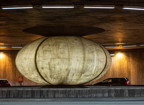 FLERE LURER: Drammens Tidende har fått flere henvendelser om kunstverket i Bragernestunnelen.