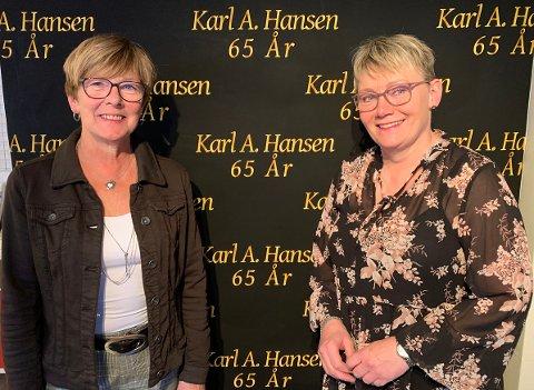 BUTIKKBURSDAG: Liv Turid Indbjør og Linda Hansen ved Karl. A. Hansen er klar for fin feiring av butikken fredag 16. oktober.