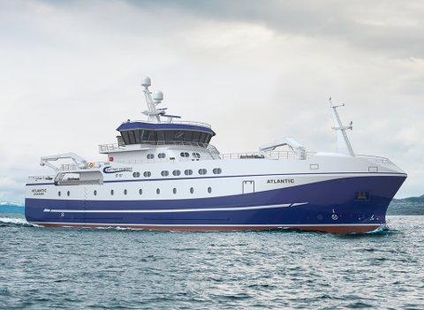 """Nye """"Atlantic"""" blir levert neste år. Teikna og designa av Skiptsteknisk."""