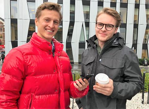 TIL NORTEL: Sander Heieren og Jesper Ekeli fra Fredrikstad er en del av det nye telesatsingen Nortel.