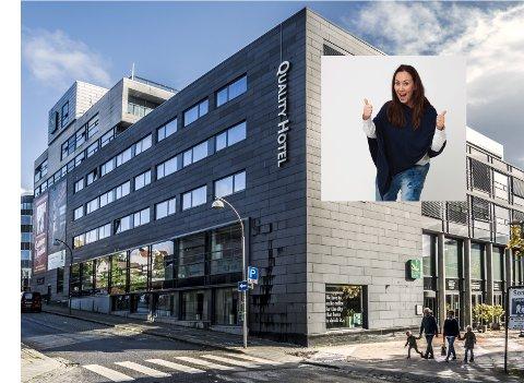GLEDER SEG: Ann Karin Vollebæk (45) blir Quality-hotellets  nye direktør. Sarpingen er begeistret for både hotellet spesielt og Fredrikstad generelt – og gleder seg til å starte.