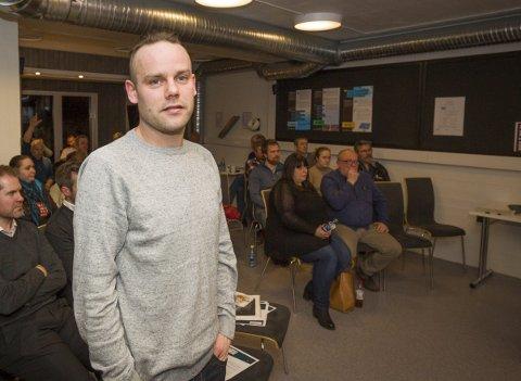 Gründer: – Jeg har vært i kontakt med Magnor Næringshage tidligere, men dette er mitt første møte med gründerkafeen, og jeg har bare positivt å si om den ut ifra det jeg har hørt i dag, sier Trond Arild Aaserud.