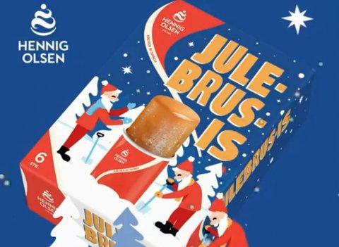 Smaken av jul, på pinne. Nytt konsept fra Hennig Olsen is.
