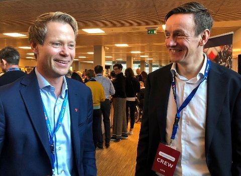 SKAL DELE UT PENGER: Ordfører Harald Tyrdal og næringsrådgiver Torstein Brandrud sitter begge i komiteen som skal dele ut penger til lokalt næringsliv.