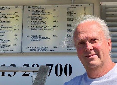 ØKER: Pizzagründer Bjørn Nilsson fra Lunner opplevde at 2020 ble et rekordår. Nå skal han plassere ut to nye automater.