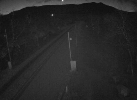 RV 7: Her ved Leiro Bom klokken 07.22 i dag. Foto: Statens vegvesen/Webkamera