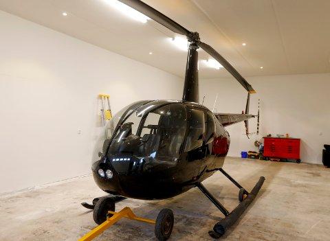 Det var dette helikopteret som krasjet søndag. Bildet er tatt i forbindelse med sak i Haugesunds Avis i desember.