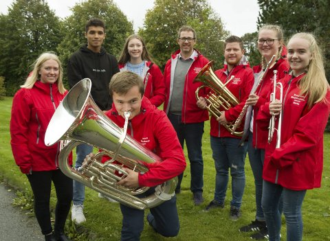 KORPSKONSERT: Haugesund Ungdomskorps feirer 50 år med konsert i Scandic Maritim Hall lørdag.