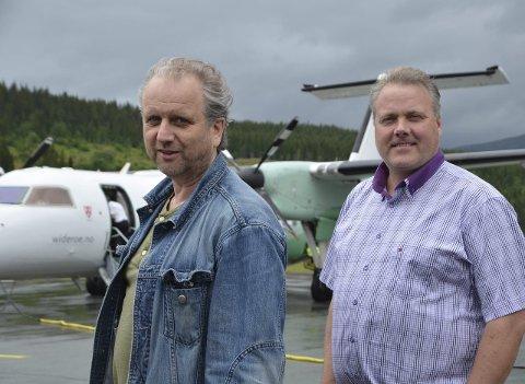 Kulturpersonligheten, Roar Møller, og daglig leder i Mosjøen Næringsforening, Bjørn Larsen, har ikke tenkt å gi slipp på Kjærstad uten sverdslag.