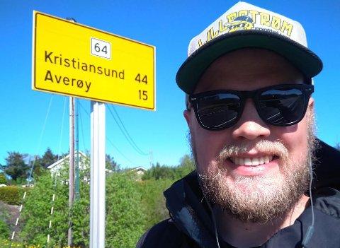 SNART FRAMME: Gleden var stor da André Øyvåg så enden i tunellen – at han nærmet seg Kristiansund.