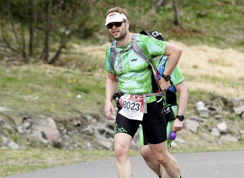 I god nok FORM: Ole Kristian Velstadbråten Bangås fra Holmestrand er klar for nye fysiske utfordringer. Etter at han har gjennomført sin første 80-kilometer på beina. Foto: Svein Halvor Moe