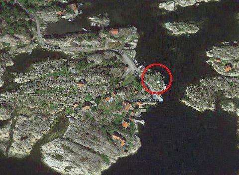 Det er på odden som kalles Kraken at Bråtøyskoghavna småbåtforening ønsker å etablere båthavn.