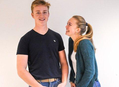 Motiverer hverandre: kusine Tuva Pharo og fetter Ulrik Pharo Lohne trives i hverandres selskap, og har begge mål om å se hvor gode de kan bli i hver sin idrett.
