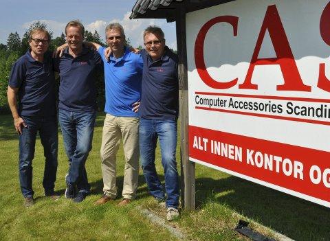 Kvartett: Tom Christoffersen (fra venstre), Vidar Jensen, Stein Norstad og Morten Mathisen er gutta bak Computer Accessories Scandinavia – eller CAS som er litt enklere å forholde seg til...