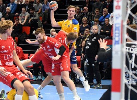 TØFT: Nicolay Hauge scoret fem mål på ni skudd mot Kolstad.