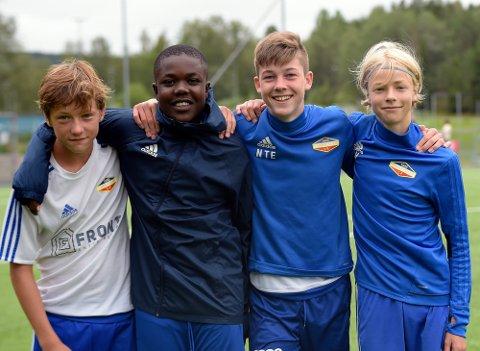 MÅLSCORERE: Luccas Eriksen, George Danso, Nicolay Eikrem og Patrik Hagen scoret alle ett mål mot Vaaler.