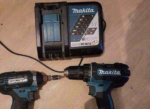Det var disse verktøyene som var merket Femur Eiendom, som var lagt ut for salg på Facebook. Foto: Privat
