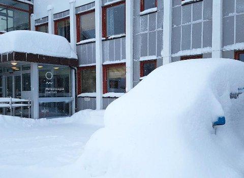 Slik ser det ut utenfor meteorologisk institutt