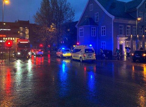 Her skjedde ulykka. Foto: Mats Rydland