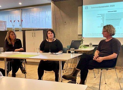 STORSATSING: Ann-Jorid Møller, Arja Mubanga Bjørn og Merete Buvik tilbyr kursing for forebygging mot selvmord.