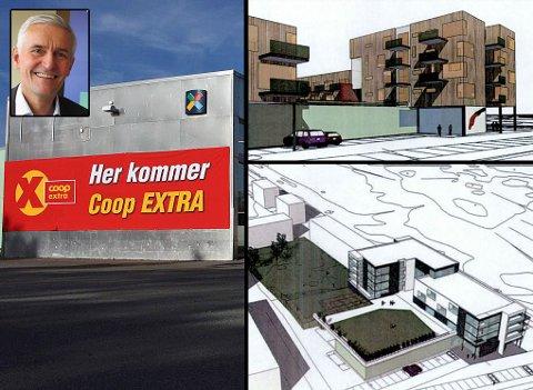 GIR OPP. Det blir ikke boliger på toppen av Coop-butikken på Elverhøy.